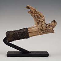 Mandau Handle, Borneo