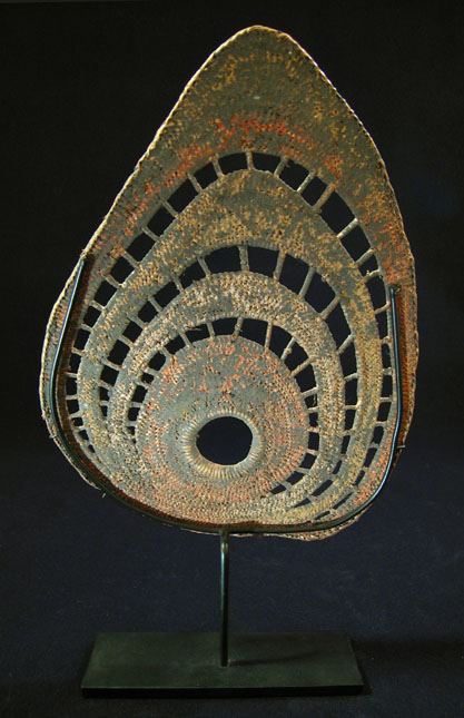 Oceanic Art - Woven yam headdress, Abelam, Papua New Guinea, back view