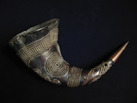 African Tribal Art - Drinking horn, Cameroon