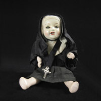 Curiosities - Nun doll, North America
