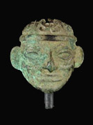 Copper head, Moche, Peru