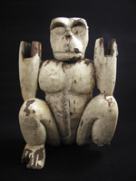 Asian Tribal Art - Wood monkey, Thailand