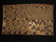 African Tribal Art - Raffia panel, Shoowa, Kuba, D.R. Congo