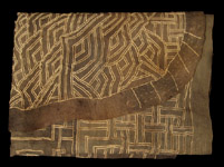 African Tribal Art - Appliquéd skirt, Kuba, D.R. Congo