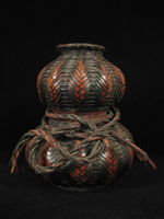 Asian Tribal Art - Gourd ikebana basket, Japan