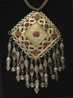 Silver pendant necklace, Turkoman, Central Asia
